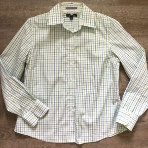 Petite No Iron Pinpoint Oxford Shirt
